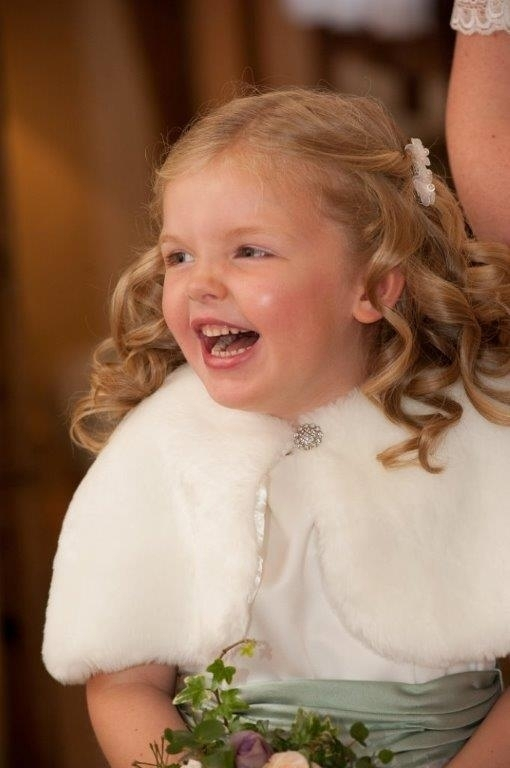 Flower girls wedding hair styled by Karens Beautiful Brides in Suffolk.