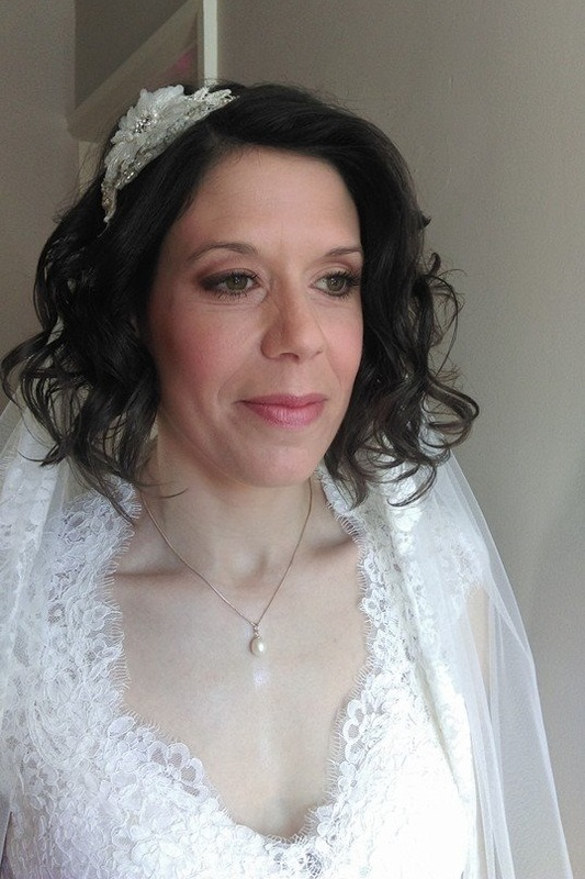 Beautiful wedding hair by Karens Beautiful Brides, Suffolk