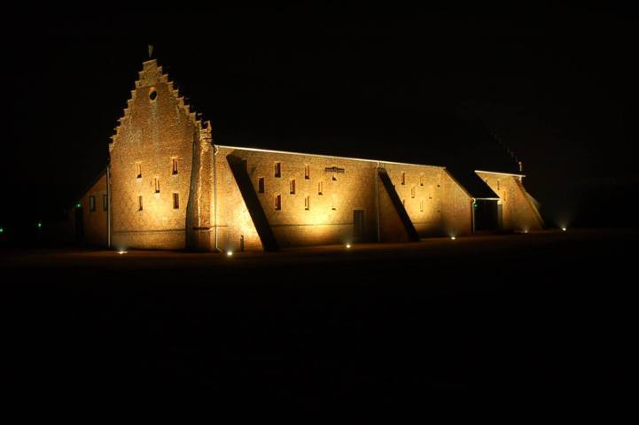 copdock hall barn wedding venue at night by Karen's Beautiful Brides.