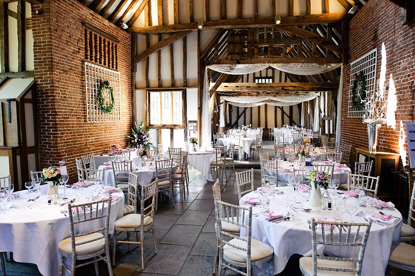 Inside Haughley Park Barn, Suffolk wedding venue