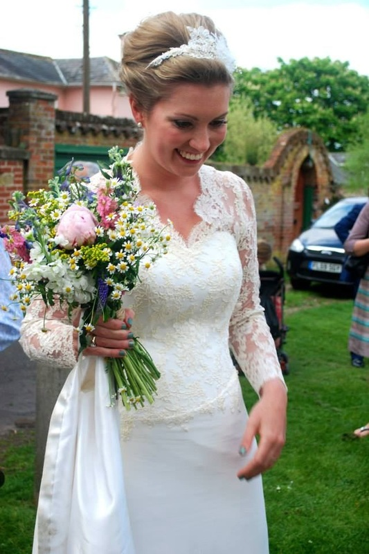 Photo of brides wedding hair by Karen's Beautiful Brides, Suffolk CO100BT