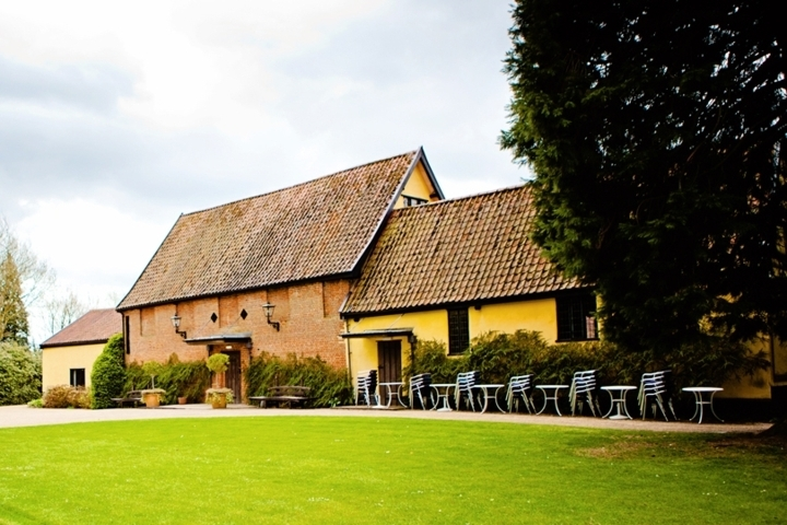 Front of Haughley Park Barn, Suffolk wedding venue