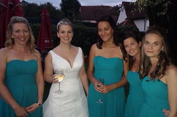 Photo of BRIDE & bridesmaids wedding hair by www.karensbeautifulbrides.co.uk, Suffolk CO100BT