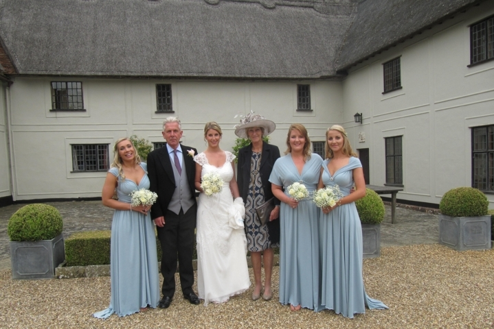 Picture of bride & bridesmaids by Karen's Beautiful Brides in Suffolk
