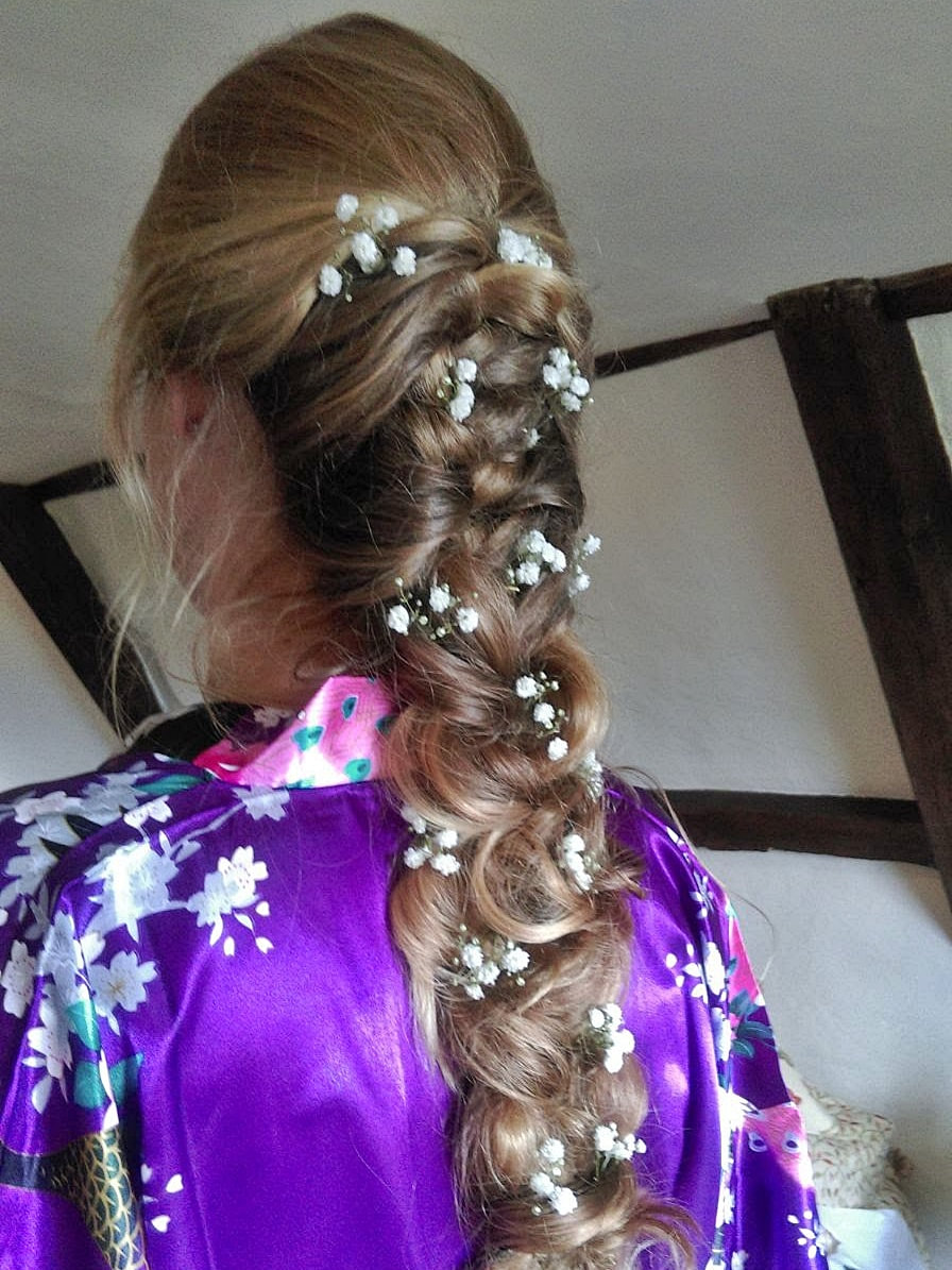 Karen's Beautiful Brides | Wedding Hair Stylist | Hair down with plait