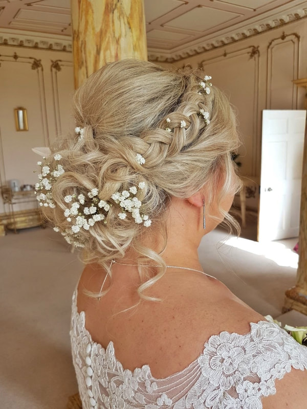 Karen's Beautiful Brides | Wedding Hairdresser | Messy hair up with plait