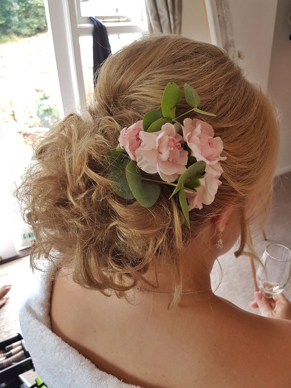 Karen's Beautiful Brides | BoHo hair up | Suffolk Wedding hairdresser