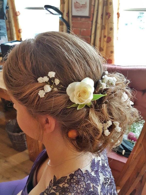 Karen's Beautiful Brides | Wedding Hairdresser | Messy hair up with twist