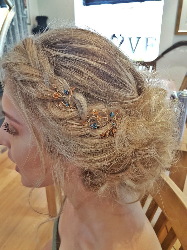 Karen's Beautiful Brides | Wedding Hair Stylist | Messy hair up with plait | BoHo